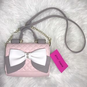 Betsey Johnson Pink Quilted Crossbody Purse